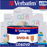 100 DISCHI VERGINI BUNDLE 50 DVD-R 4.7GB|120min 16x VERBATIM Life series E 50 CD-R MEMOREX AUDIO DATI