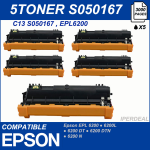 5 Toner compatibile Epson EPL 6200 6200N 6200L epl6200 6000 copie  EPSON RC-SO50167