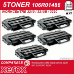 5 TONER COMPATIBILE PER XEROX E SAMSUNG WORKCENTRE 3210 3210VN 3220 3220VDN XL 5000 COPIE